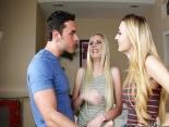 Jovencitas lesbianas participan en un concurso erotico